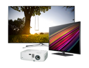 LCD screens, LED,<br>projectors